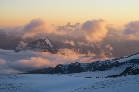 Sunset from Elbrus Base Camp