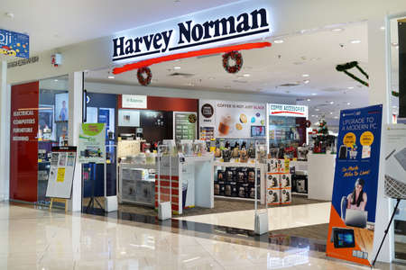 PENANG, MALAYSIA - NOVEMBER 24, 2017: Harvey Norman is a large Australian-based, multi-national retailer of furniture, bedding, computers, communications and consumer electrical products.