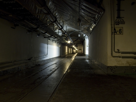 old mining building: tunnel