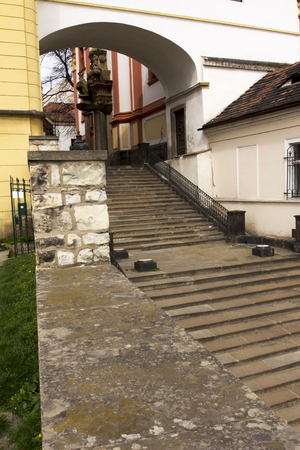 steps and staircases: old staircase at the historic house