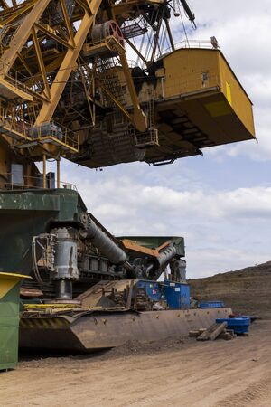 conveyors: coal mine in the countryside Stock Photo
