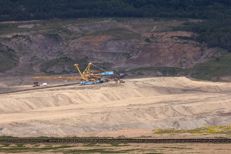 industrial noise: coal mine in the countryside Stock Photo