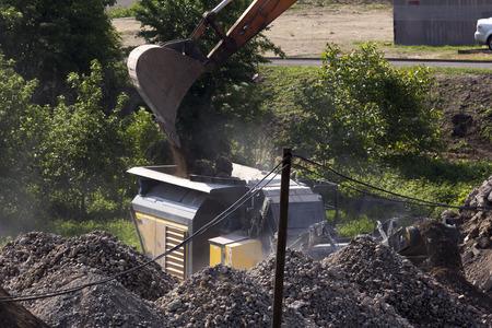 liquidation: Disposal of old buildings machine