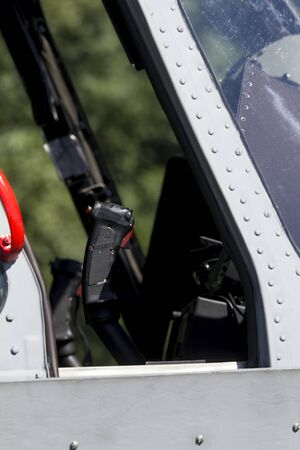 military helicopter: Cockpit great modern military helicopter Stock Photo