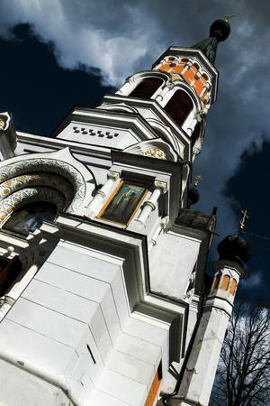 the orthodox church: beautiful and high Orthodox church in Stock Photo