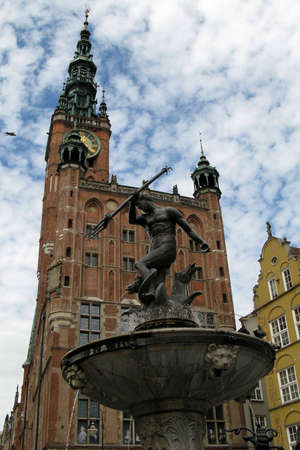 neptun: Statue of Neptun in Gdansk  Poland