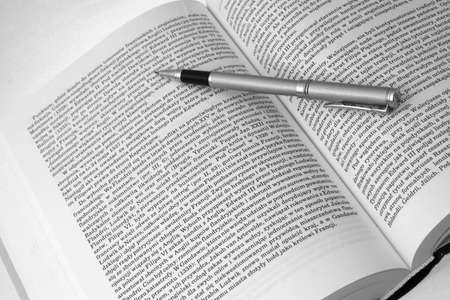 History Book with pen5 Stock Photo - 1954361
