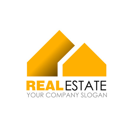 house agent: Real estate logo design. Real Estate business company. Building logo. Real estate design concept. Residential construction Illustration