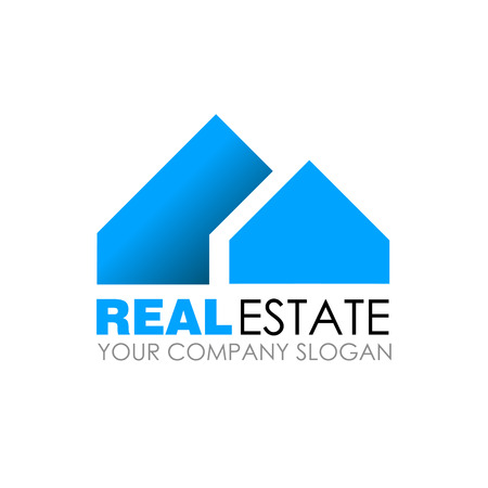 Real estate logo design. Real Estate business company. Building logo. Real estate design concept. Residential construction Vettoriali