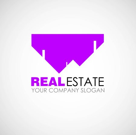 accommodation broker: Real estate logo design. Real Estate business company. Building logo. Real estate design concept. Residential construction Illustration