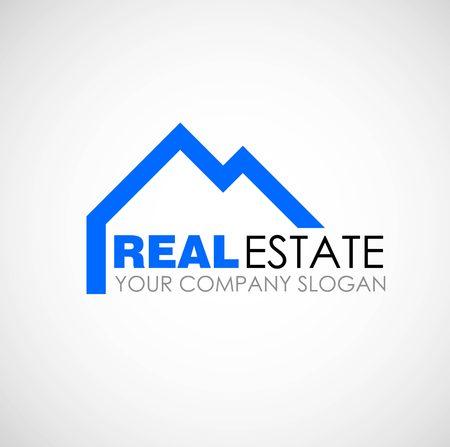 estate: Real estate logo design. Real Estate business company. Building logo. Real estate design concept. Residential construction Illustration