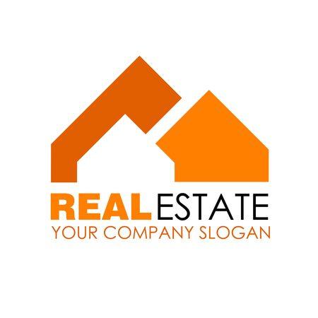 real residential: Real estate logo design. Real Estate business company. Building logo. Real estate design concept. Residential construction Illustration