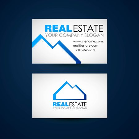 accommodation broker: Real estate logo design. Real Estate business company. Building logo. Real estate design concept. Real estate business card design.