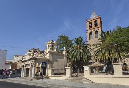 Basilica of Santa Eulalia, early christian church in Merida, Spain 免版税图像
