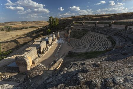 Ruins of roman theater in Clunia, Spain