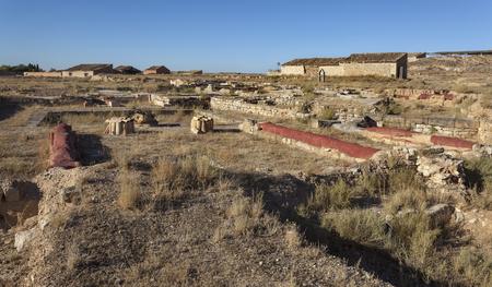 Roman ruins of Colonia Iulia Lepida at Velilla de Ebro, Spain
