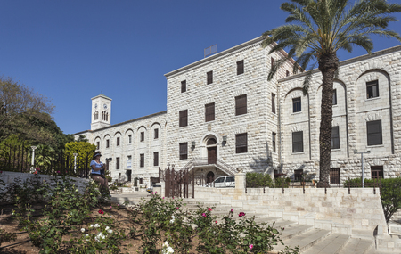 Buildings next to the Basilica of the Annunciation and St. Joseph church