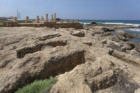 Ruines du palais d'Hérode à Césarée Maritima