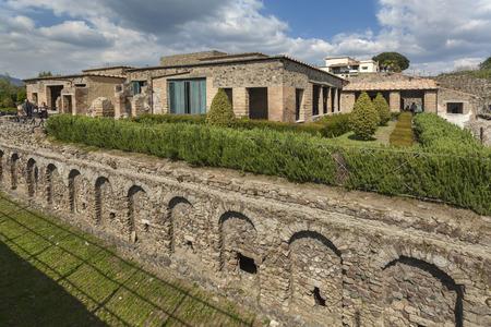 Ruins of the Villa dei misteri in Pompeii