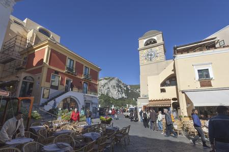 Piazzetta square in the historic center of Capri