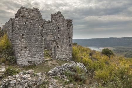 Ruins of medieval church in old town Sas (Svac) near Ulcinj in Montenegro