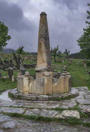 Fountain in roman town Cuicul at village Djemila, Algeria