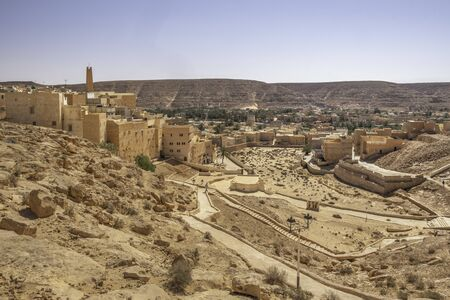 El Atteuf, one of the five cities making up what is referred to as the M'Zab Pentapolis, Algeria 免版税图像