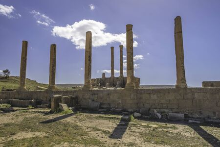 The Capitoline Temple in roman town Timgad (Colonia Marciana Ulpia Traiana Thamugadi), Algeria