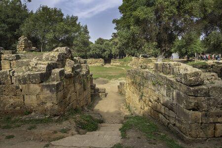 Entrance to the roman amphitheater in Tipasa (Tipaza), Algeria