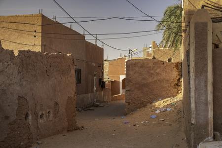 Traditional red architecture in oasis town Timimoun in Sahara desert, Algeria