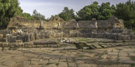 Ruins of nymphaeum in roman town Tipasa (Tipaza), Algeria