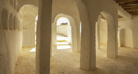 Interior of Sidi Brahim Mosque at El Atteuf, one of the five cities making up what is referred to as the M'Zab Pentapolis, Algeria