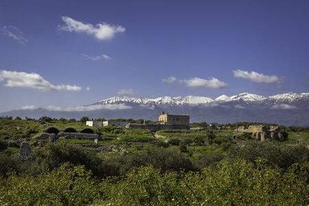 Ancient town Aptera on island Crete, Greece