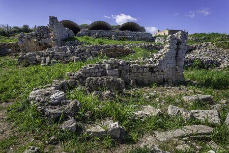 Romanj ruins in ancient Aptera, Crete, Greece