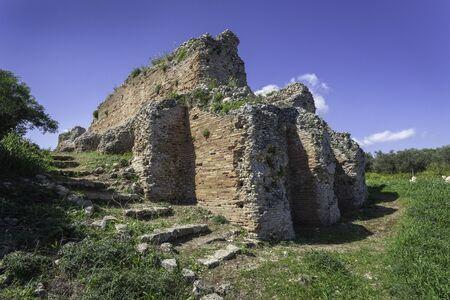 Roman vaulted cistern in ancient Aptera, Crete, Greece