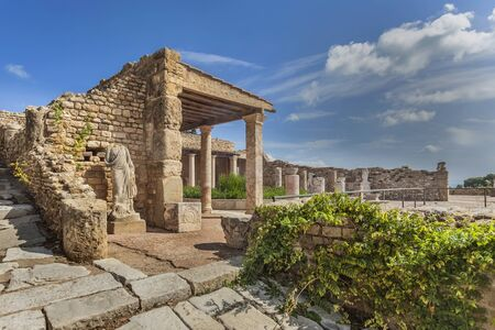 Reconstructed roman villa in Carthage]