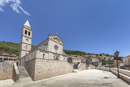 Parish church in Smokvica on Korcula island in Dalmatia, Croatia
