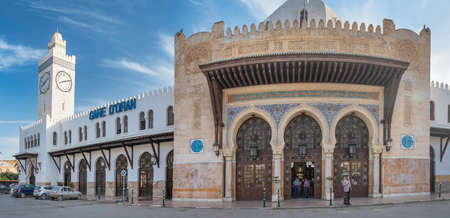 Beautiful train station (once mosque with minaret) in Oran, Algeria