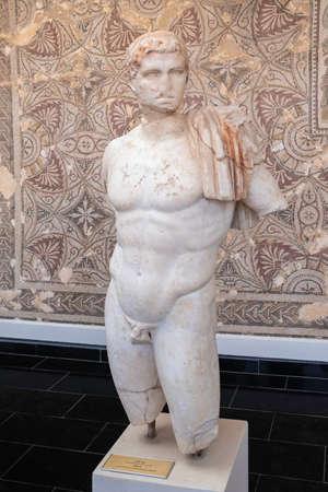 Beautiful marble statue of king Juba II from Caesarea Iol, Algeria