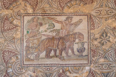 The Triumph of Dionysus on Mosaic in Caesarea Iol, Cherchell, Algeria