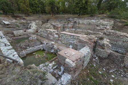 Ruins of roman bath in Hisar (Diokletianopolis), Bulgaria