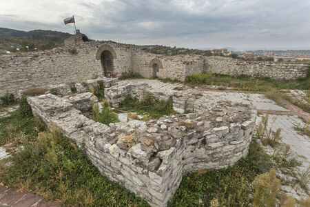 Ruins of church and wall in medieval fortress of Lovech, Bulgaria 免版税图像