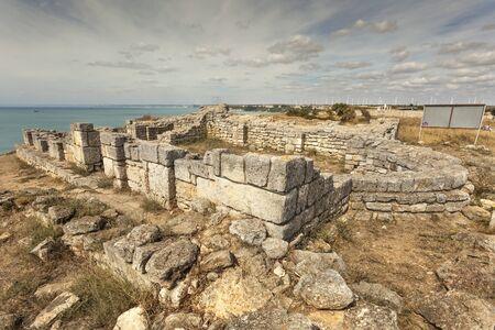 Ruins of early christian church at Kaliakra, Bulgaria