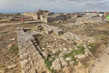 Remains of the medieval fortress on cape Kaliakra, Bulgaria  C