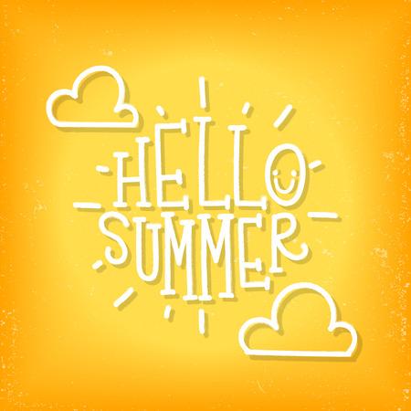 Inscription Hello summer. Vector illustration Ilustrace