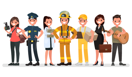 diferentes profesiones: People of different professions - Labor Day. Vectores