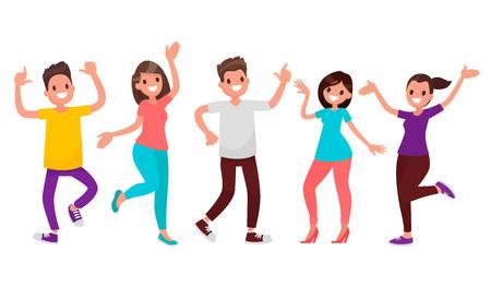 Dancing people.