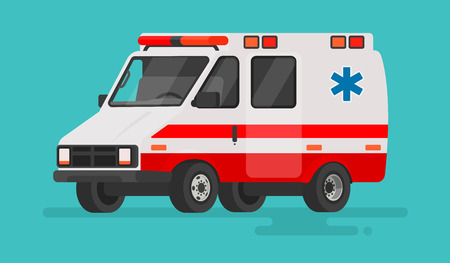 Ambulance car on an isolated background. Vector illustration in a flat style Stock Vector - 80907075