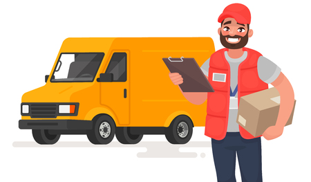 Delivery man icon.