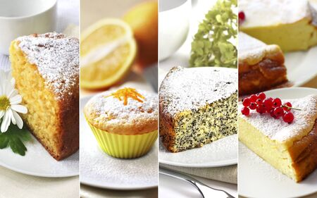Collage of tasty homemade sweet pastry  Stock Photo
